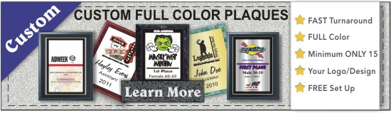 custom full color plaques